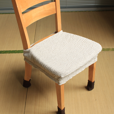 Quality Simple Elastic Fabric Dining Chair Seat Cover Only