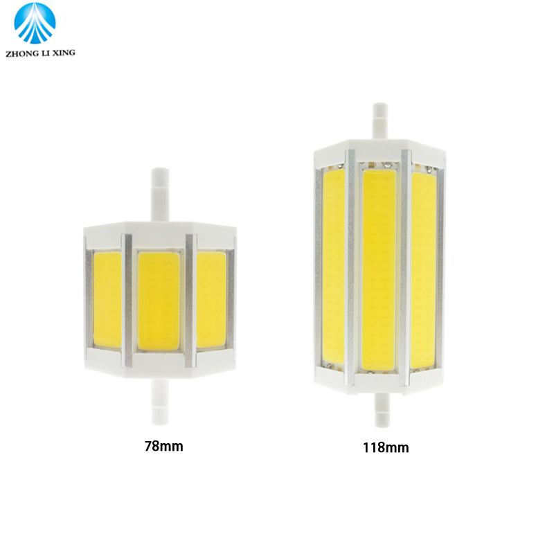 Super Brightness R7S LED Bulb 78mm 118mm 10W 20W Flood Light dimmable AC 85-265v COB LED Sportlight replace halogen Lamp r7s 17w 1620lm 5000k 72 led white light bulb yellow white ac 85 265v