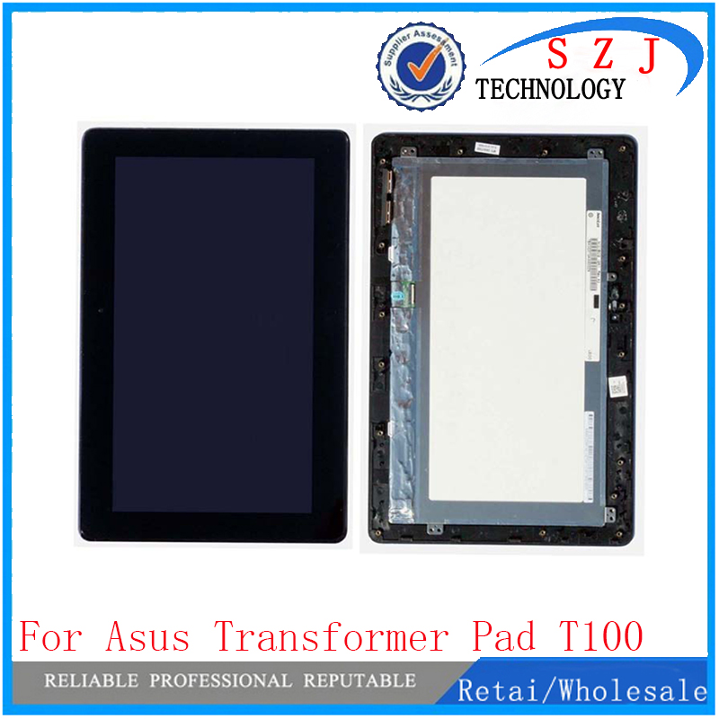 New 10.1 inch For Asus Transformer Pad T100 T100TA 5490NB LCD Display Monitor + Touch Panel Screen digitizer Assembly with Frame new for asus eee pad transformer prime tf201 version 1 0 touch screen glass digitizer panel tools
