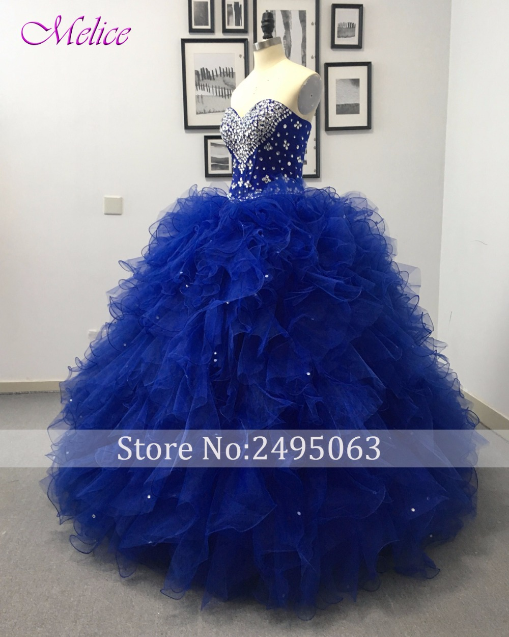 07c7001a849 Fmogl Charming Strapless Royal Blue Princess Quinceanera Dresses 2019  Beaded Crystal Vestido Lace Up Debutante Dress For 15 anos-in Quinceanera  Dresses from ...