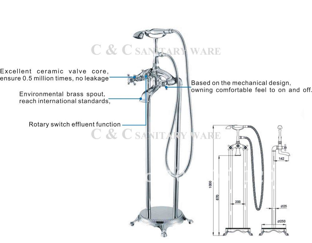 Aliexpress Floor Standing Faucet Three Handles. Standard Bathtub Faucet Height   Best Bathtub 2017