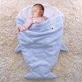 Cute Baby Knit Shark Blanket For Kids Shark Tail Fleece Blanket Microfleece Shark Sleeping Bag