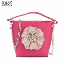 ФОТО ultron women fashion handbag shoulder stereo flowers small tote ladies purse summer crossbody pu leather high quality