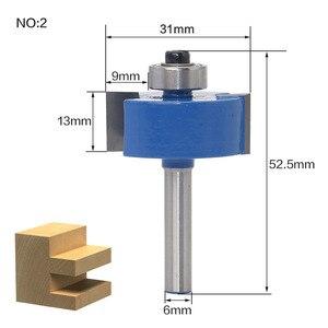 Image 5 - 1 ชิ้น 6 มิลลิเมตร Shank wood router bit Straight end mill trimmer ทำความสะอาด flush trim มุมรอบ cove กล่อง bits เครื่องมือตัด