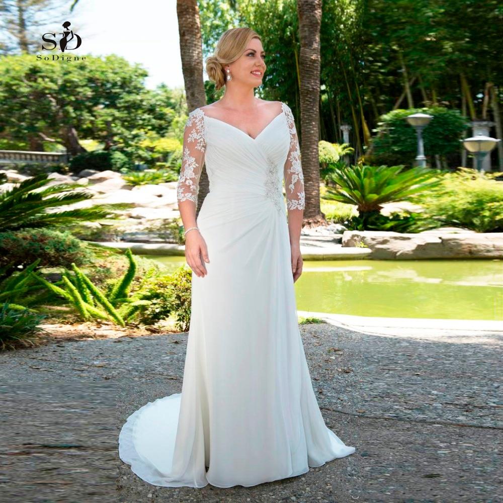 Aliexpress.com : Buy Plus Size Wedding Dress 2018 Chiffon