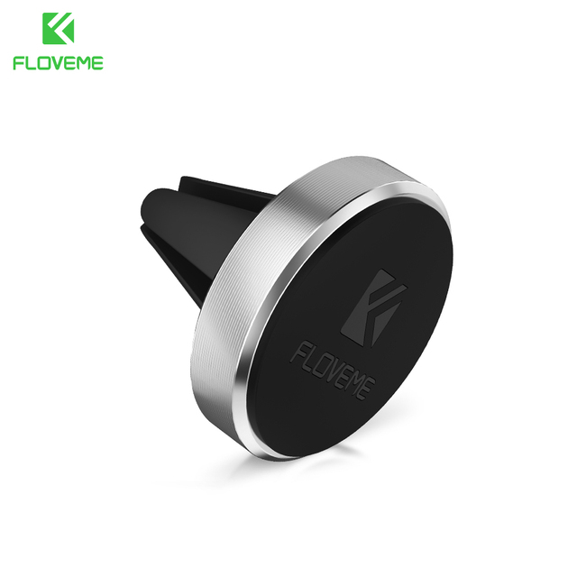 FLOVEME Universal Car Phone Holder Magnetic Air Vent Mount Stand 360 Rotation Mobile Phone Holder for iPhone 7 5s 6 Plus Samsung