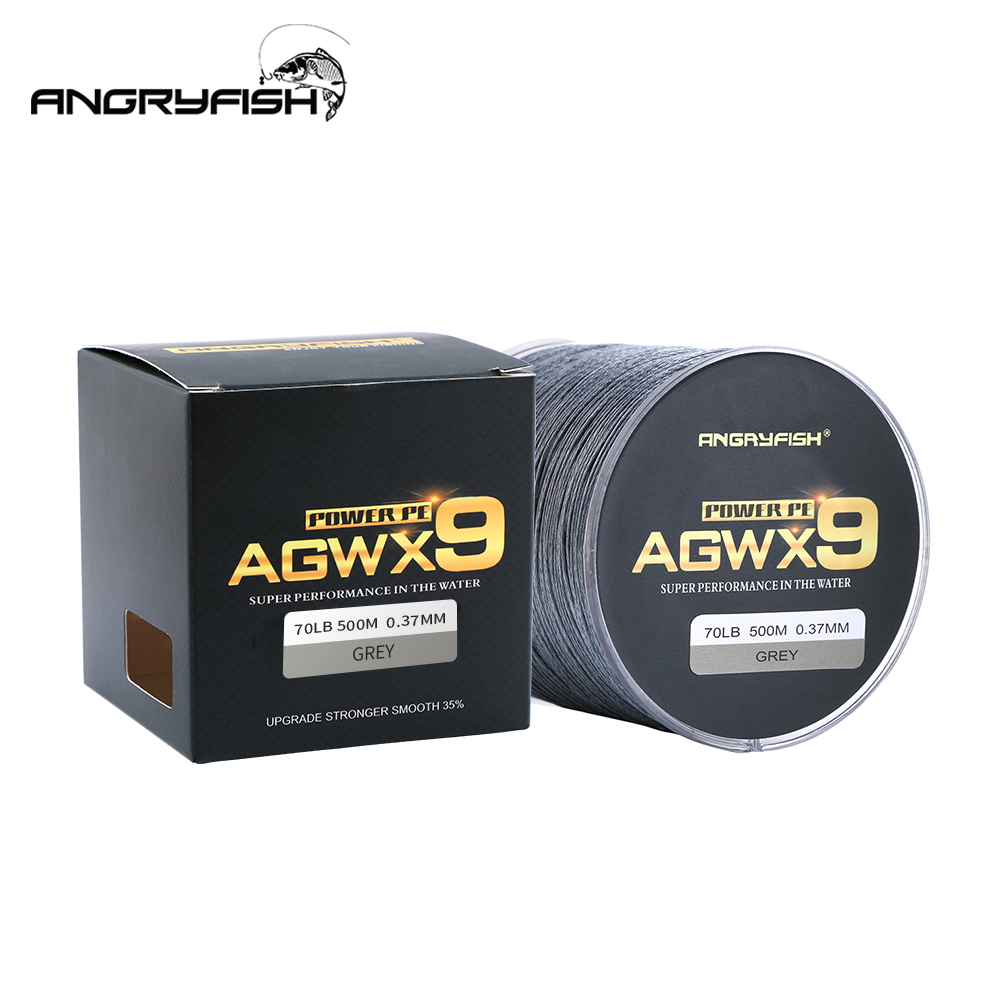 Image 2 - ANGRYFISH 9 Strands Weaves Braided 500M Fishing Line Super Strong PE Line 15LB 100LB-in Fishing Lines from Sports & Entertainment