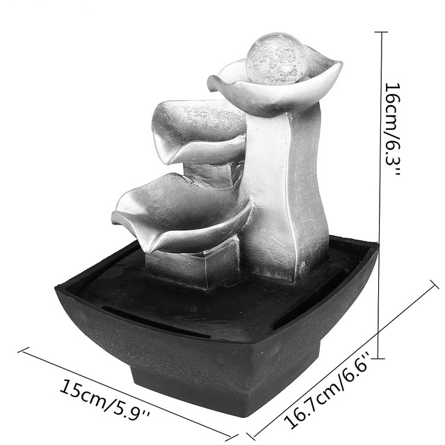 Rockery Relaxation Indoor Fountain Waterfall Feng Shui Desktop Water Sound Table Ornaments Crafts Home Decoration Accessories 5
