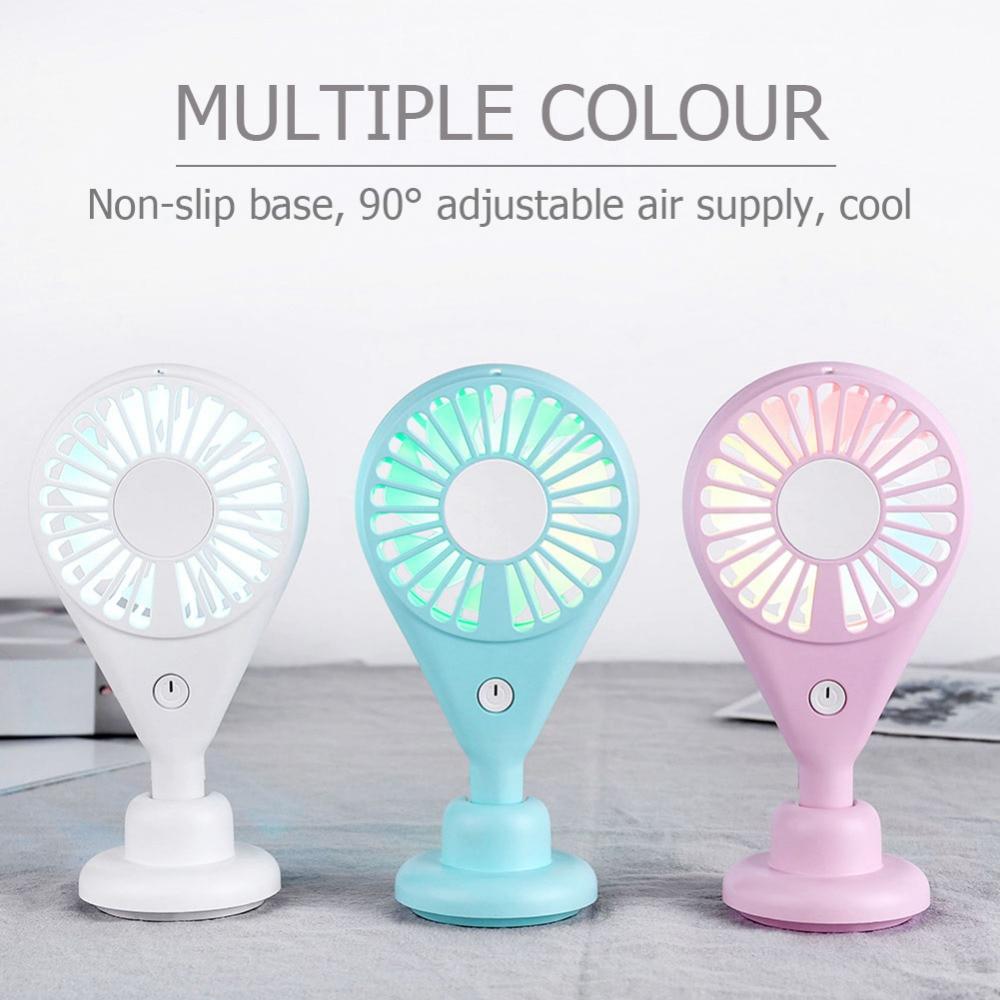 Portable Mini Fan Handheld Ventilador USB Rechargeable Fan 7 Blades Desktop Summer Cooler Air Cooling Fan for Outdoor Travel (3)
