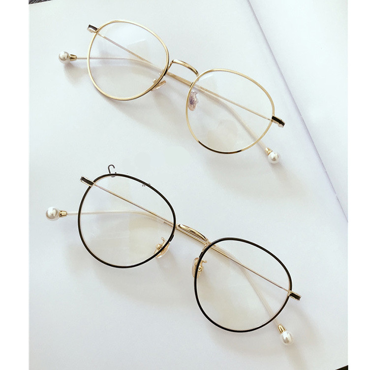 a9d2e1d84bd Detail Feedback Questions about Retro Round Metal Eyeglasses Frame ...