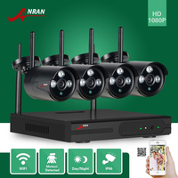 ANRAN P2P 2MP 4CH WIFI NVR 1080P HD Network Array IR Waterproof Outdoor IP Wireless Camera