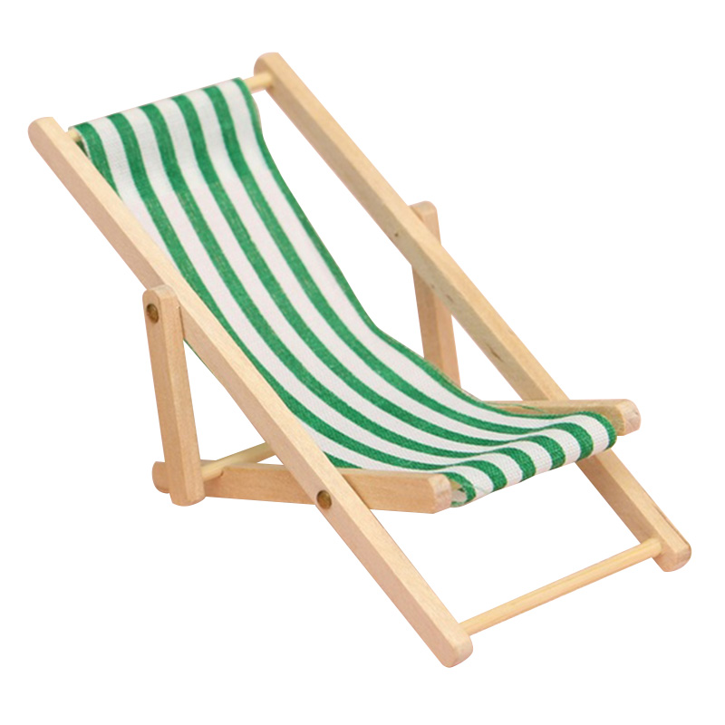 mini foldable wooden deck chair