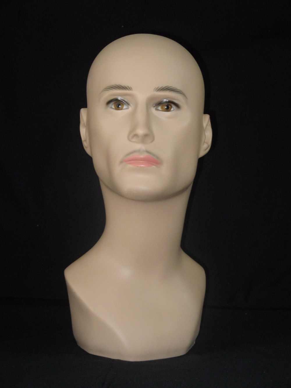 高品質現実的なプラスチック男性マネキン用のマネキンダミーヘッド帽子/かつら表示、マネキンヘッド