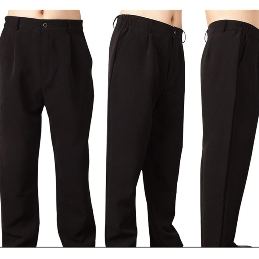 Ropa Pantalones De Cocinero Pantalones Para Chef Negro De Cintura Elastica