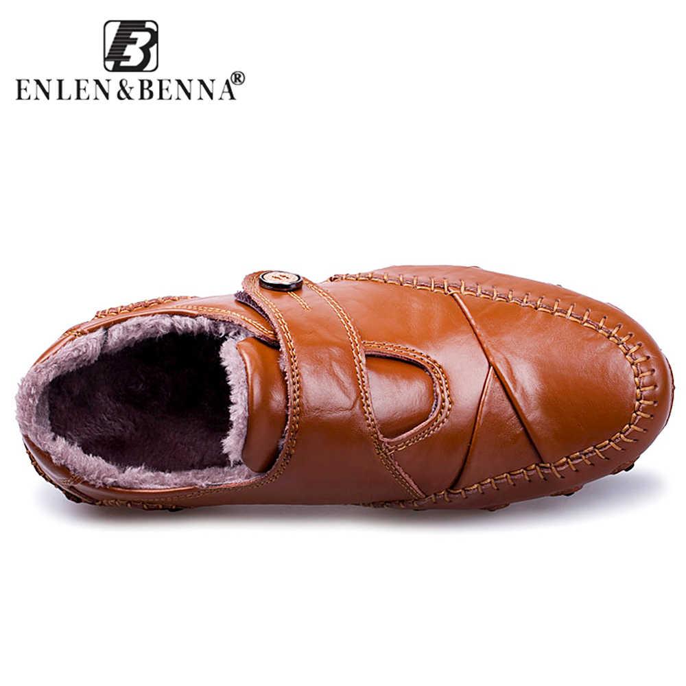 2019 ผู้ชาย Casual รองเท้า Loafers รองเท้าหนังแท้รองเท้า Breathable Slip-on รองเท้าชายฤดูหนาวขับรถรองเท้าใหญ่ขนาด 48