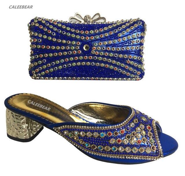 pretty nice 2b8c3 d264f US $79.0 |Donne africane scarpe Italiane con il sacchetto di corrispondenza  Nigeria colore Blu in alta qualità scarpe Italiane e borse per abbinare ...