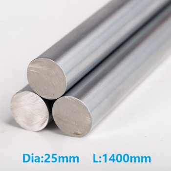 4pcs/lot 25mm linear shaft 1400mm long 25x1400mm hardened chromed plated shaft  steel rod