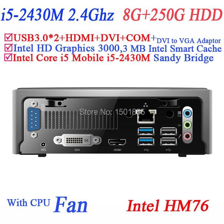 2015 new cheap china computers with Intel Core i5 2430M 2.4Ghz windows xp mini pc 8G RAM 250G HDD