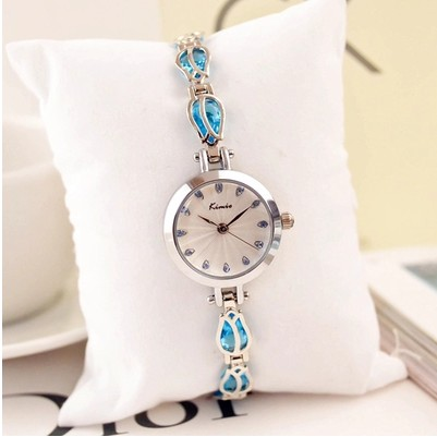 Luxury Brand KIMIO Women Watches Fashion Ladies Dress Flowers Watch Bracelet Clock Quartz Watch Relogio Feminino Relojes Mujer baosaili brand luxury crystal gold watches women ladies quartz wristwatches bracelet relogio feminino relojes mujer bs001
