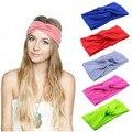 De cabeça turbante para mulheres meninas Headbands Headwrap Yoga Hairband Yoga Headwear Bandana acessórios de cabelo