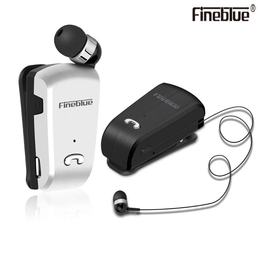 Newest Fineblue L18 Mini Wireless business Bluetooth Headset Sport Driver Earphone Telescopic Clip on Stereo Earbuds with Mic