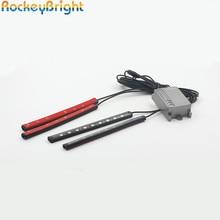 Rockeybright Mobile Bluetooth APP+sound active Control RGB 7 Color LED Car Neon Interior Light decoration atmosphere light Strip