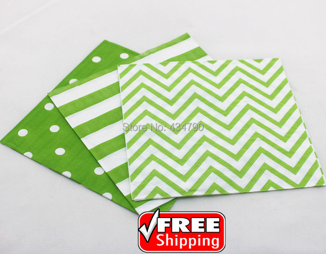 60pcs Mixed 3 Designs Striped Polka Dot Chevron Green Paper NapkinsParty DecorationsTableware  sc 1 st  AliExpress.com & 60pcs Mixed 3 Designs Striped Polka Dot Chevron Green Paper Napkins ...