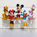 5Pcs/set Mickey Figures Minnie Mouse Donald Duck Daisy Duck PVC Figure Toys Dolls Kids Great Gifts Retail 10 cm Approx