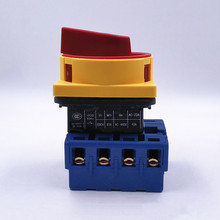 LW30 4P Isolator Switch ON OFF 690V 25A/63A 80A100A Padlock 2 position 4 Poles Main Rotary Cam Switch Emergency stop