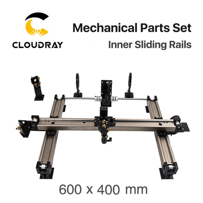 Cloudray Mechanical Parts Set 600mm*400mm Inner Sliding Rails Kits Spare Parts For DIY 6040 CO2 Laser Engraving Cutting Machine