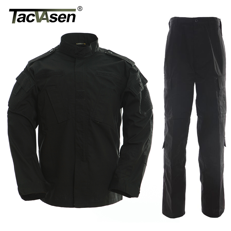 68f0edb23 TACVASEN Black Camouflage Men Clothes Tactical Military Uniform Clothing  Army Combat Men's Jacket+Pants Hunt Clothes TD-WHFE-015 ~ Premium Deal June  2019