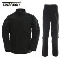Black Camouflage Men Clothes Tactical Military Uniform Clothing Army Combat Uniform Men S Jacket Pants Hunting