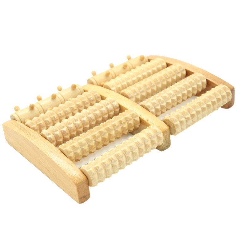 Wooden Foot Massager Roller Reflexology for Stress Fitness Health Care Feet Massager Colorful Massage Roller Pain Relief b12 foot 5 row wooden roll foot massager wooden roller stress relief body massage feet relax spa wood massager for foot care