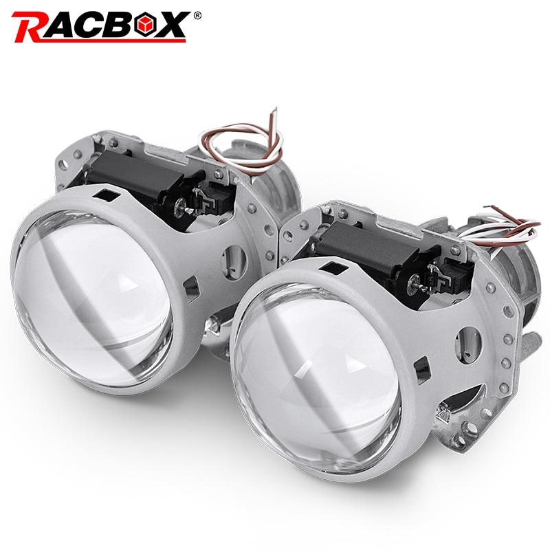RACBOX 2 pcs 3.0 pouce Auto Phare De Voiture HID bi-xénon Pour Hella 5 Projecteur Objectif Remplacer Projecteur Rénovation d1S D2S D3S D4S