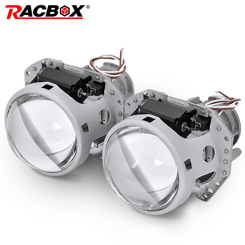 RACBOX 2Pcs 3.0 Inch Auto Car Headlight HID Bi xenon For Hella 5 Projector Lens Replace Headlamp Retrofit D1S D2S D3S D4S