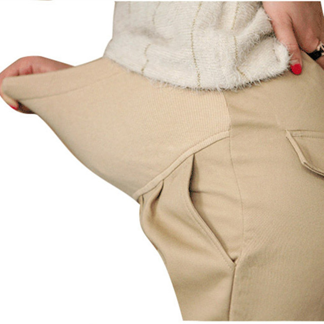 Elastic Waist Cotton Maternity Pants