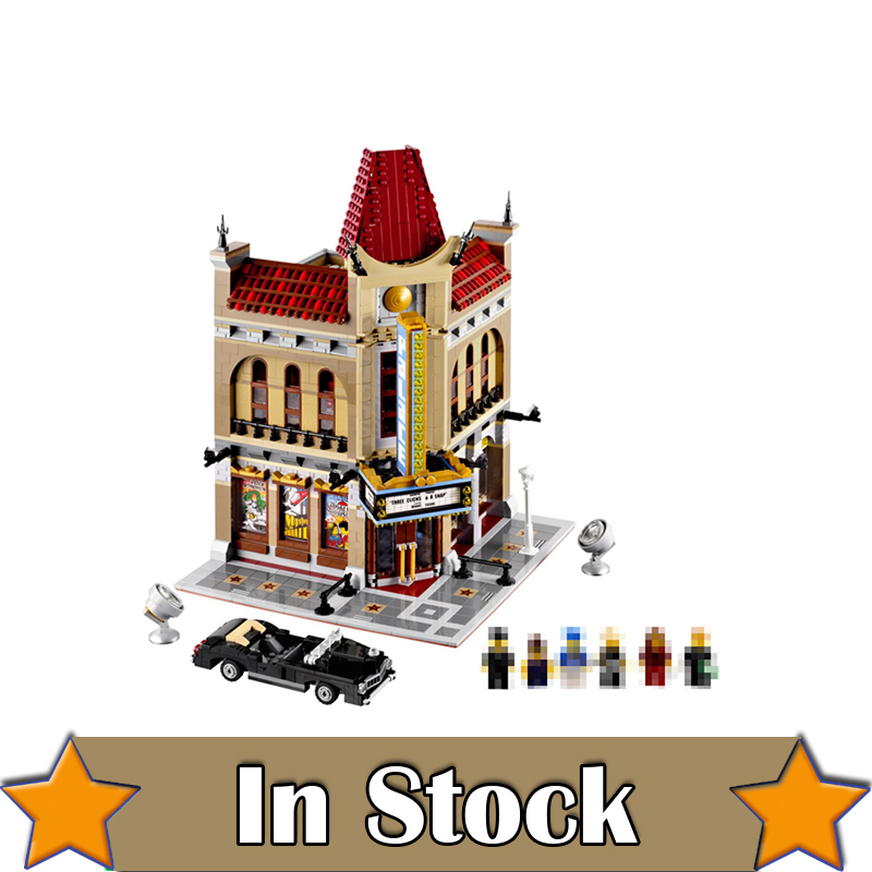 LEPIN 15006 Palace Cinema Street View Creator Building Blocks Bricks Toys DIY For Kids Model Compatible with legoINGly 10232 dhl new lepin 06039 1351pcs ninja samurai x desert cave chaos nya lloyd pythor building bricks blocks toys compatible 70596
