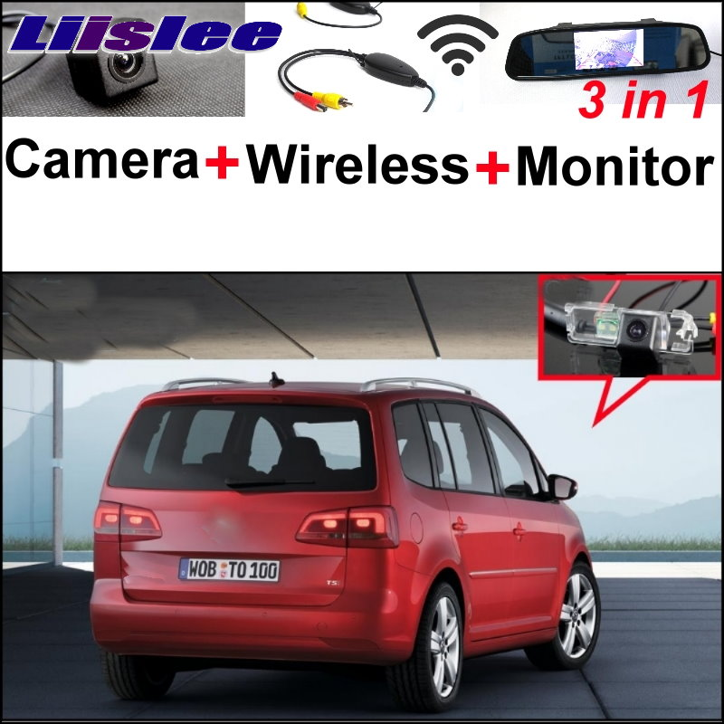 Liislee For Volkswagen VW Touran 3 in1 Special Wifi Car Camera + Wireless Signal + Mirror Monitor Easy Back Up Parking System