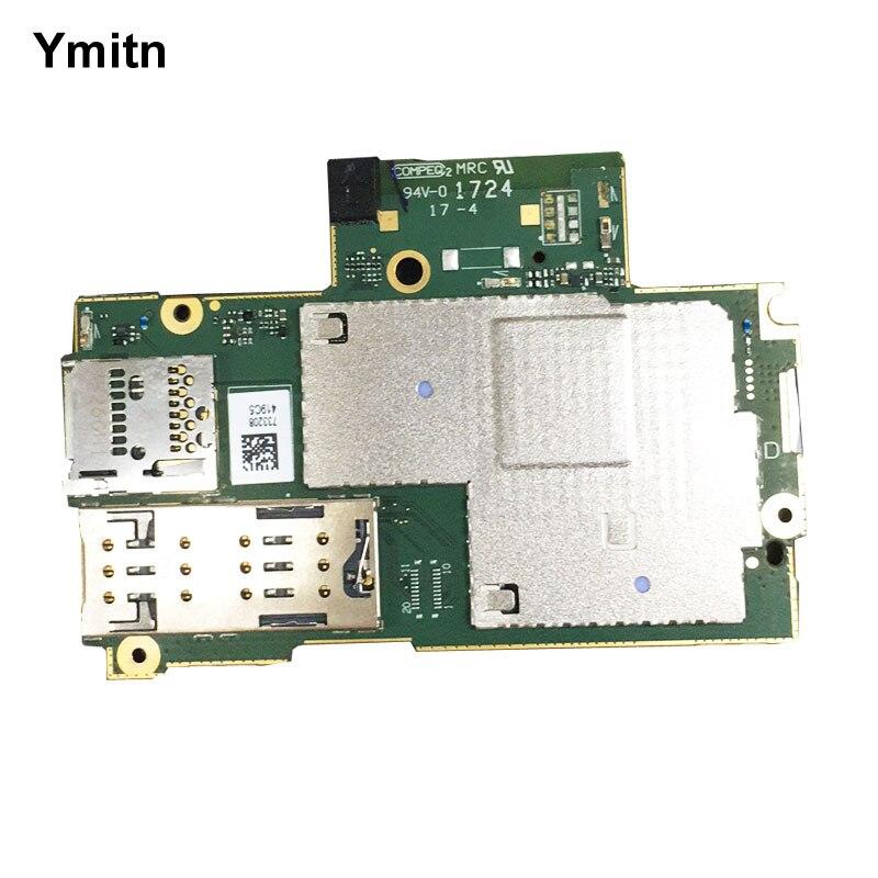 New Unlocked Ymitn Logement Mobile Électronique panneau carte mère Carte Mère Circuits Flex Câble Pour Sony Xperia XA1 Ultra G3266