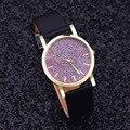 Reloj Relojes Mujer Relogio Feminino 2017 imitar diamante diseño de la marca de lujo rhinestone vestido de cuarzo Reloj de cuero