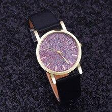 Watch Women Watches Relogio Feminino Reloj Mujer imitate diamond design luxury brand leather rhinestone quartz dress Clock