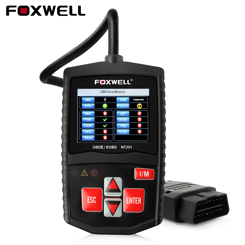 Foxwell NT201 OBD2 OBDII Automotive Scanner Car Code Reader Diagnostic Tool OBD 2 EOBD Engine Read Check Auto Scanner