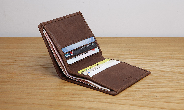 LAN genuine leather mens wallet multi holders slim wallet famous brand coin purses holders