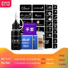 hot deal buy 1 set tattoo henna past kit permanent makeup supplies microblading tools waterproof temporary tattoo juice ink body art paint