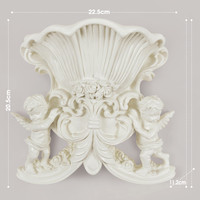 Cupid Angel 3D Wall Stickers Wall Vase Background Mural Craft Resin Wall Hanging European Home Decoration R326