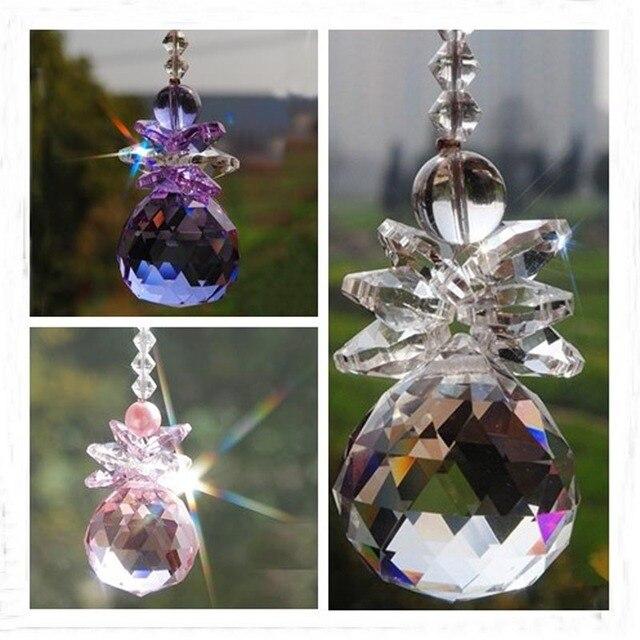 1 шт. стеклянный кристалл фэн шуй 30 мм 40 мм Кулон Призма подвесная люстра Декор Свадебный оконный орнамент