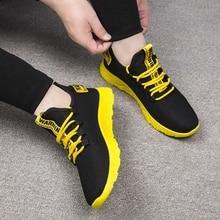 Мужские кроссовки; дышащая повседневная Нескользящая Мужская Вулканизированная обувь; Мужская обувь из сетчатого материала на шнуровке; износостойкая обувь; tenis masculino
