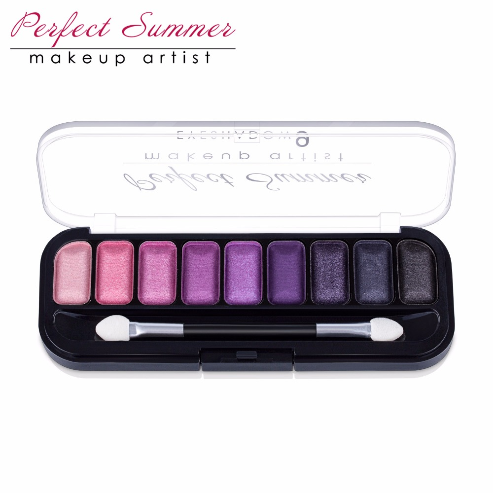Perfect Summer 9Color Eye Shadow Makeup Shimmer Matte Eyeshadow Earth Colorful Eyeshadow Palette Cosmetic Makeup Set Eye Shadow