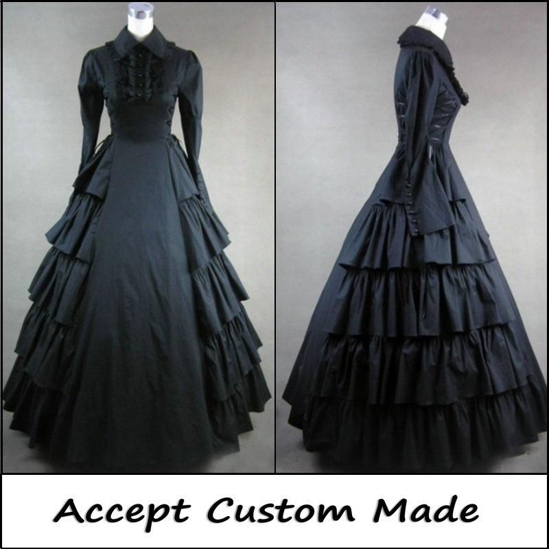 Free Shipping 2017 Lolita of Vitoria Gothic Palace ball Dress Operatic long dress Halloween princess cosplay costumes