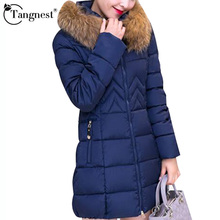 TANGNEST Artificial Fur Women Winter Coat  2016 Hooded New 4XL Solid Color Medium Long Parka Outwear Casaco Feminino WWM843